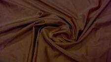 Dklbraun Bi-Stretch Lycra tessuto Elastan Costume da bagno sostanze tessuto METRAGGIO | B 815 @