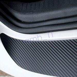 Car Rear Bumper Trim Cover Vinyl Strip Sill Body Guard Protector CARBON FIBER