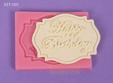 Happy Birthday Silicone Cake Mold Decorating Lace Impression Mat Baking Tool
