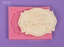Happy Birthday Silicone Cake Mold Decorating Lace Impression Mat Baking Tool
