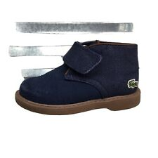 Lacoste Sherbrook Blue Suede Ankle Boot Hook Loop Toddler  Shoe Size 5