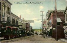 Bath ME Fron Street From Bank c1910 Postcard