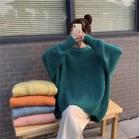 Women Ladies Long Sleeve Pullover Sweater Sweatshirt Loose Jumper Tops Winter