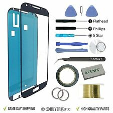 SAMSUNG GALAXY S4 Black Replacement Screen Front Glass lens Repair Kit+ 2mm Tape