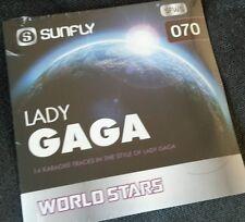 Karaoke cdg disque, sfws 070 Sunfly world stars, lady gaga, voir douteuse, 14 trks
