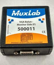 Muxlab 500011 VGA Balun - Monitor Side CCTV surveillance security