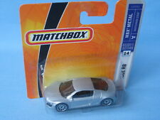 Matchbox Audi R8 Silver Body German Sports Toy Model Car in BP 70mm