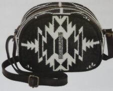 Pendleton Cross Body Handbag Half Moon Purse Leather American Wool Southwestern