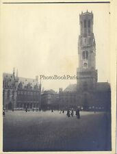 Bruges Brugge Belgique Photo Amateur Vintage argentique ca 1900