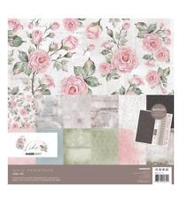 KAISERCRAFT Scrapbooking Paper Pack + Sticker Sheet Lady Like Vintage Rose Pink