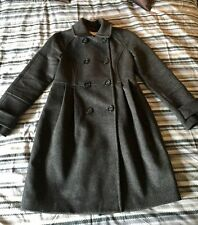 Whistles Dark Grey 100% Wool Coat Size 8