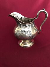 ANTIQUE STERLING SILVER GEORGE II PERIOD CREAMER HAND CHASED 246 GRAMS NO MONOGR
