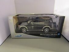 WELLY 1/18 BLACK 2006 FORD EXPLORER EDDIE BAUER NEW IN BOX DISCONTINUED *READ*