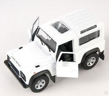Livraison rapide Land rover Defender blanc/white welly modèle auto 1:34 NOUVEAU & OVP