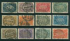Deutsches Reich 246 - 257 , o , teils Infla gepr.