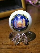 NEW YORK  STATE TROOPER HIGHWAY PATROL POLICE ONE INCH GLASS MARBLE W/STAND