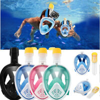Full Face Diving Snorkel Masks Swimming Scuba Snorkeling  Anti-Fog Fit Gopro