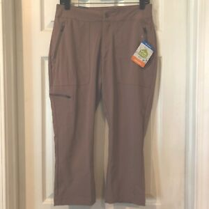 Columbia Womens Sz 2 Active Fit Omni-Shield Tan Anytime Capri Pants New $50