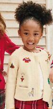 BNWT NEXT Girls  Size 12-18 Months (86cm) Ecru Christmas Cardigan RRP £17