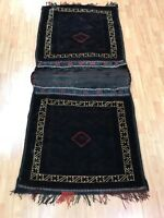 "3' x 6'4"" Antique Turkeman Decorative Saddle Bag Oriental Rug - 1920 - Hand Made"