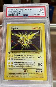 Zapdos Holo 1st Edition German Base Set Mint 9 PSA Pokemon #16