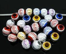 50 Nice Mixed Carved Aluminium Beads. Fits Bracelet