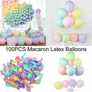 Pack of 100 Macaron Candy Colored Party Balloons Pastel Latex Balloons 10 Inch