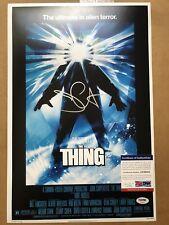John Carpenter Signed Halloween 12x18 Poster The Thing Silver Autograph PSA COA