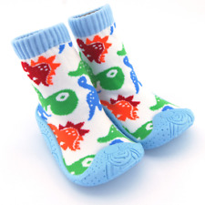 Non Slip Baby Grip Sole Sock Shoes with Dinosaur Print Design