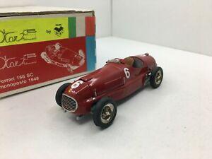 Tron Kits * 1948 Ferrari 166 SC * Removable Bonnet *Damaged* 1:43