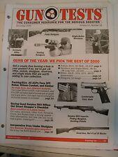 Gun Tests Magazine Dec 2000 Best Pistol Revolver Rifles Shotguns SKS Rifles .45