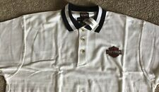 Harley Davidson Off White polo golf Shirt NWT Men's  Large