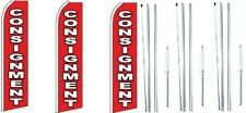 Consignment Swooper Flag With Complete Hybrid Pole Set 3 Pack