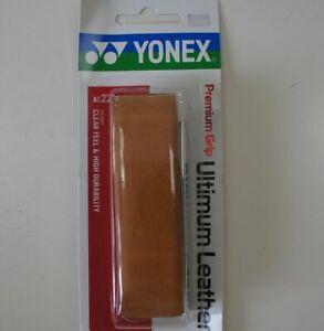 Yonex Premium Leather Badminton Tennis Squash Grip AC221 Brown Highly Durable