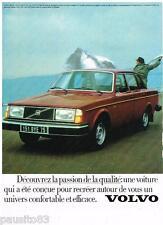 PUBLICITE ADVERTISING 105  1979   VOLVO   244 GL