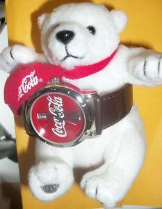 VINTAGE COCA COLA WATCH & POLAR BEAR / NEW IN ORIGINAL BOX