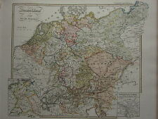 1846 SPRUNER ANTIQUE HISTORICAL MAP ~ GERMANY from 1792 INSET 1811 ~ LEIPZIG