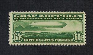 CKStamps: US Air Mail Stamps Collection Scott#C13 65c Mint NH OG Lightly Crease