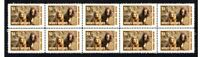SUSSEX SPANIEL DOG STRIP OF 10 MINT VIGNETTE STAMPS #2
