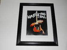 "Large Framed Bruce Springsteen Wrecking Ball Tour 2012 Poster 24"" by 20"""
