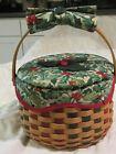 Longaberger 2003 Christmas Caroling Basket Combo