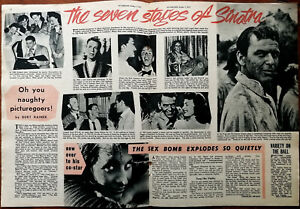 Frank Sinatra The Seven Stages of sinatra Vintage Film Article 1957