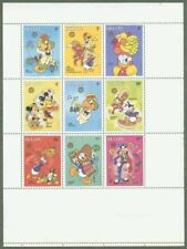Belize 1986 DISNEY Christmas sheetlet of nine PROOF