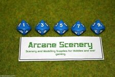 TEN SIDED DICE D10 BLUE Opaque For Wargames & Games Workshop