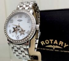 Rotary Watch Ladies AUTOMATIC Skeleton Stars Swarovski Crystals RRP £189 BOXED