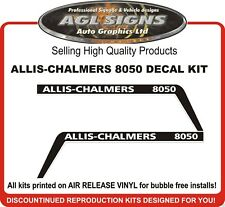 ALLIS-CHALMERS 8050 TRACTOR HOOD DECAL KIT  REPRODUCTIONS