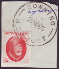 """NSW POSTMARK """"BOWNING"""" ON 5d QEII DATED 1965 (A8908)"""