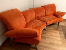 zwei große Sofas / Couch - orange - Sitzlandschaft - Abholung
