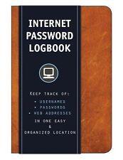 NEW! Cognac Internet Address Password Lock Book Logbook Organizer Personalized