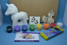 Unicorn Activity Kit Paint Your Own Figure Colour In Keyring Birthday Gift Set
